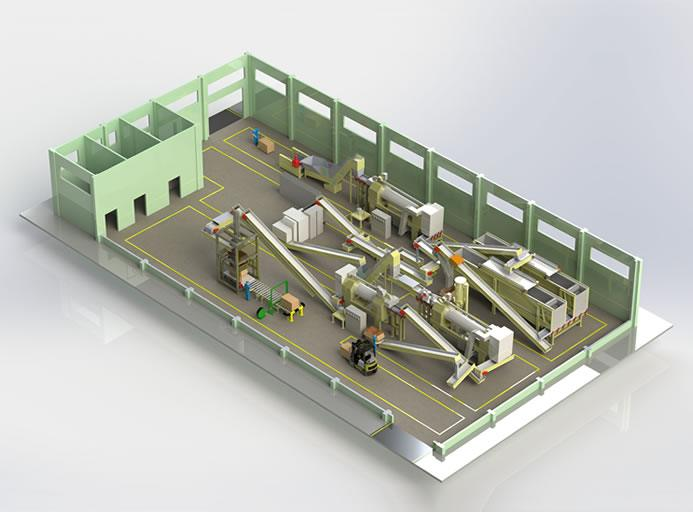 Cut Rolles Expanded Stems Production Line